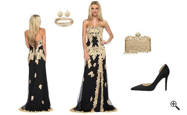 Goldenes Kleid Lang