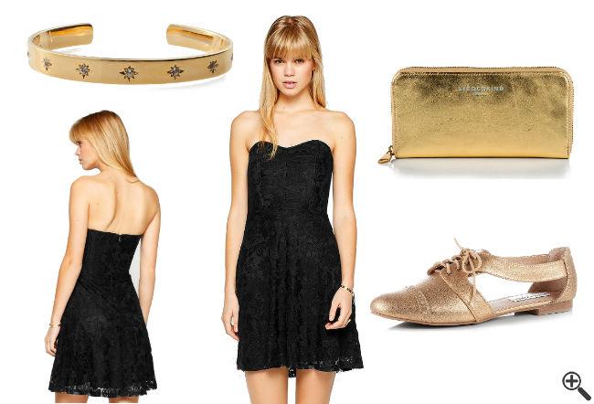 Goldenes Kleid Online