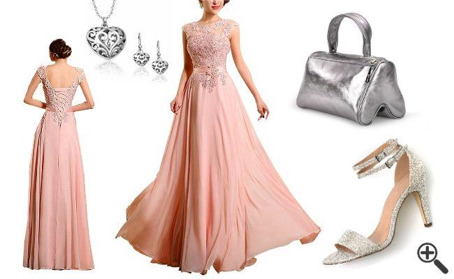 Kleider Pink Lang