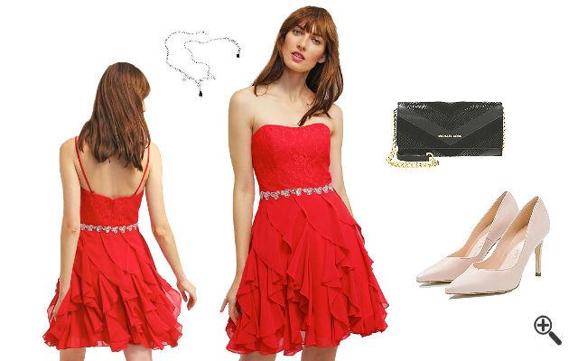 Rote Kleider kurz