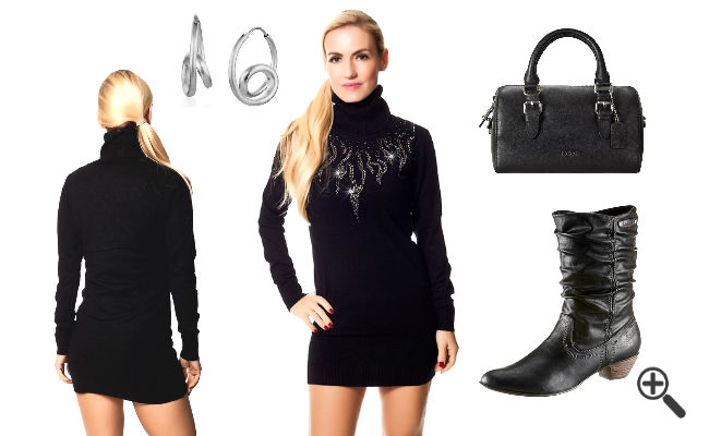 Schwarze Kleider kurz