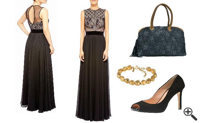 Schwarze Kleider lang
