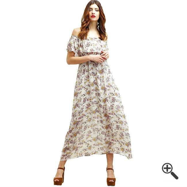 Strandkleid in Lang mit Geblümten Muster | Kleider bis zu -87 ...