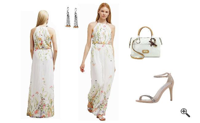 Weiße Kleider lang