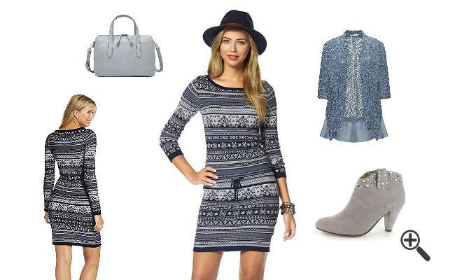 Longzjhd Damen Herbst Elegant Pullover Kleid Lang ...