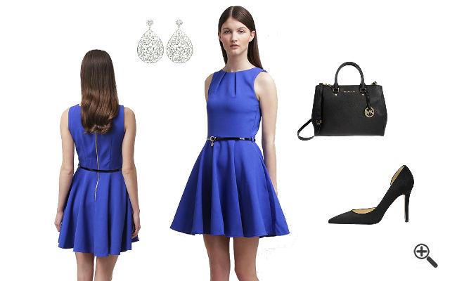 Blaues kleid hallhuber