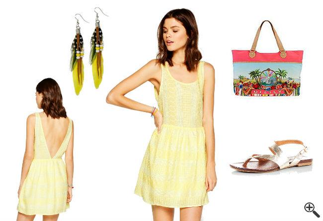 Marie Blanc Chiffon Kleid Mit Stufen günstig Online kaufen ...