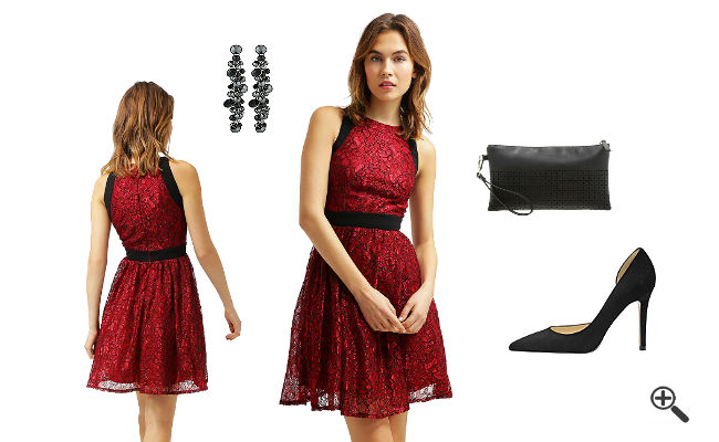 Bandeau kleid kombinieren